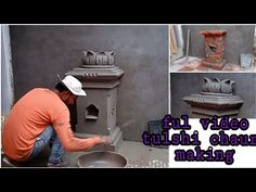 tulshi chaura design part-2 full video Tulsi Chaura making - YouTube Concrete Sculpture, Youtube, Painting, Design, Painting Art, Paintings, Painted Canvas, Youtubers
