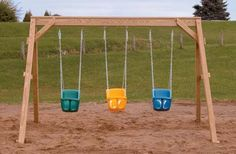 63 Ideas for backyard kids play area toddlers swing sets Playground Swing Set, Backyard Playground, Backyard For Kids, Playground Ideas, Children Playground, Baby Swing Set, Toddler Swing Set, Child Swing, Swing Set Plans