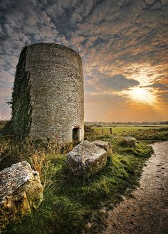 Medieval mill, Portland, Dorset, Great Britain.