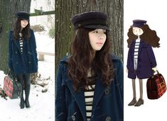 Sailor in the snow (by Nancy Zhang) http://lookbook.nu/look/453791-sailor-in-the-snow