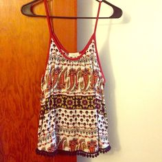 Cute Tank Super cute NWT, has no size listed so size is a guess!! Tops Tank Tops
