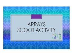 Arrays Scoot Activity/Task Cards