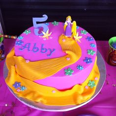 Abby's tangled cake
