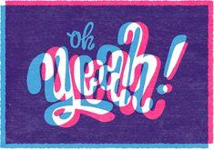 Esta Design and Illustration - Portfolio of dutch illustrator Esther Aarts. Typography, handlettering, illustration, t-shirts and printed matter. Cool Typography, Typographic Design, Types Of Lettering, Lettering Design, Subtractive Color, Typographie Inspiration, Branding, Design Graphique, Logos