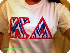 personalized custom sorority greek kappa delta kd letter shirt tribalikat print by prettyylittleletters on