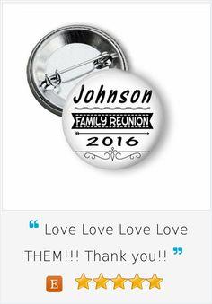 Family Reunion Party Favor Buttons #familyreunion #reunionfavors #summer2016 #pinbackbuttons