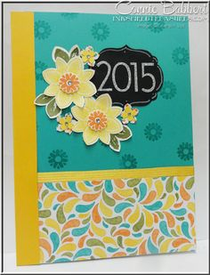 Petal Potpourri, New Occasions Catalog, Stampin' Up!, #stampinup, altered Calendar, flowers, chalkboard, 2015, Birthday Bash, Connie Babbert, www.inkspiredtreasures.com