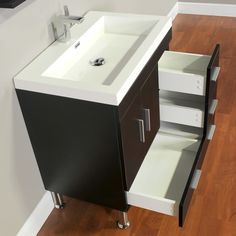 """You'll love the Ripley 30"""" Single Modern Bathroom Vanity Set with Mirror at Wayfair - Great Deals on all Home Improvement  products with Free Shipping on most stuff, even the big stuff."""