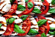 Awesome Caprese Salad recipe from The Pioneer Woman. Such a great side dish to use summer tomatoes!