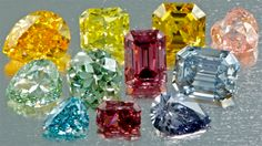 Fancy Colored Diamonds.  The rarest color is red.