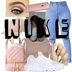 A fashion look from September 2016 by covergirlzariya13 featuring Topshop, NIKE and Michael Kors