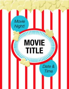 Thinking of hosting a movie night? Free flyer