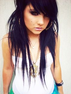 I am so wanting to do this to my hair. I think i might. just more even, less stringy.