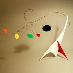 Peacenik Stabile S Mobile Art, Coffee Table Top Art, Small, Retro Mid-Century Modern, Kinetic Sculpture Mobile Art, Hanging Mobile, Mobile Sculpture, Sculpture Art, Art Certificate, Ceiling Art, Small Sculptures, Wire Art, Nursery Art