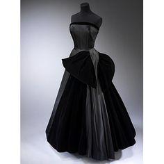 Evening dress - Cygne Noir (Black Swan); La Ligne Milieu du Siecle  by Dior