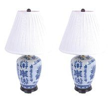 "Ceramic Urn 24.5"" Table Lamp (Set of 2)"