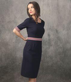 Enjoy everyday dresses beauty! YOKKO | SPRING 17 #stripes #dayoutfit #dress #bleumarine #casual #newcollection #spring #yokko #style #fashion