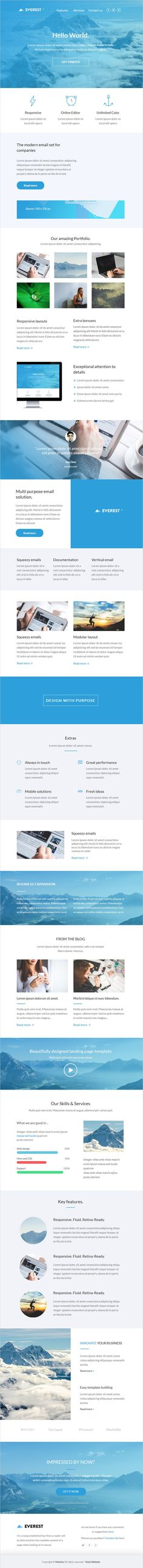 Everest is a beautifully design #viral #HTML #email template + builder 2.0 download now➯ https://themeforest.net/item/everest-html-email-template-builder-20/16928869?ref=Datasata