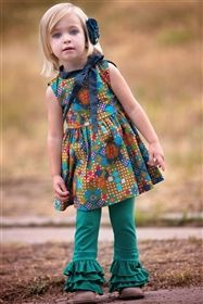 $78 - Persnickety Clothing - Emerald Pine Gwen Top in Multi - Autumn 2014