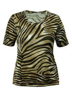 Bluzka oliwkowa paski zebra Semper