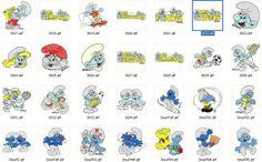 Nova - Coleção De Bordados Computadorizados Smurfs -novidade - R$ 12,90 no MercadoLivre