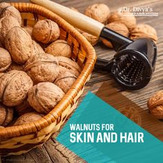 Walnuts contain B Vitamins, Vitamin E and omega-3 fatty acids — all beneficial for your skin and hair. #walnuts #goodfood