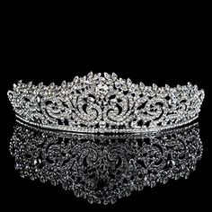 Topwedding Rhinestone Wedding Tiara Crown Headband Crystal Bridal Headpiece Pageant Hair Accessory for Women Bridal Crown, Bridal Tiara, Headpiece Wedding, Bridal Headpieces, Hair Wedding, Wedding Veils, Wedding Dresses, Wedding Bride, Wedding Decor