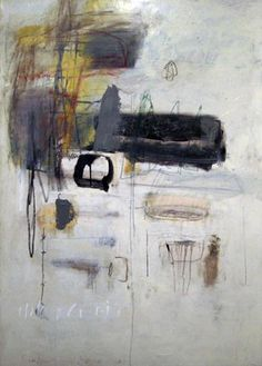 Kit Reuther. Winter White Abstract, 2010 Painting - oil, graphite on canvas  56 x 40 inches  Cumberland Gallery