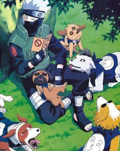 Kakashi reminds me of a crazy lady but instead he is a guy with dogs and reads pornos