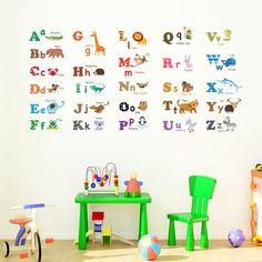 Alphabet & Animals Nursery Wall Stickers