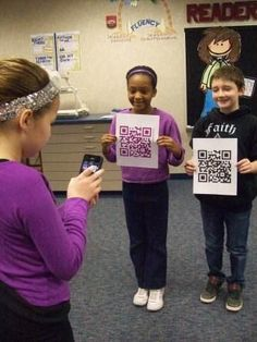 Technology   Using QR Codes in the Classroom -  All teachers need to watch the video at the website!