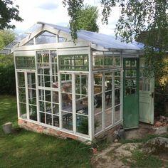 bygga växthus av gamla fönster 40
