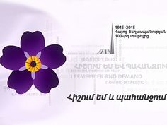 100 Years of Armeninan Genocide, symbolised by forget-me-not flower