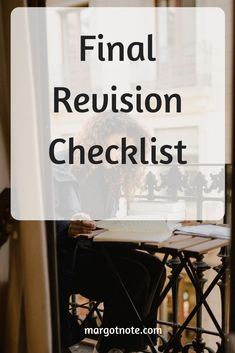 Final Revision Checklist