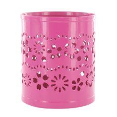 Pink pen pot