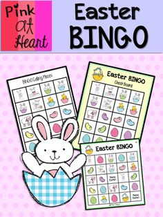 Easter BINGO Game from kac2877 from kac2877 on TeachersNotebook.com (14 pages)  - PDF - 7-player BINGO game!