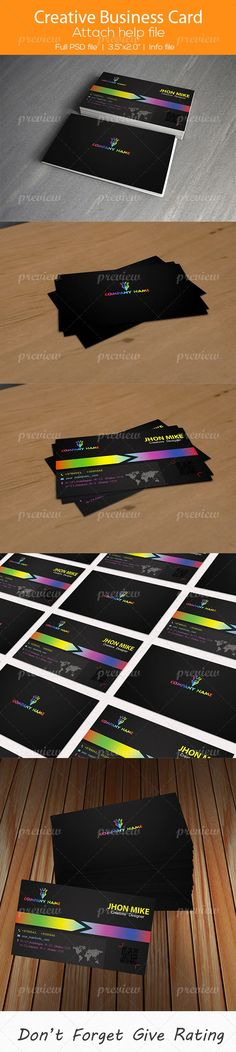 Creative Business Card 09 by SelenaParker.deviantart.com on @deviantART