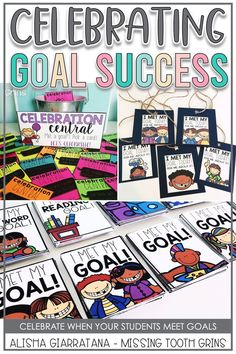 When your students meet goals, it's so important to celebrate them and their successes. Setting goals is important for all students #goalsetting