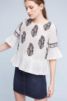 Allister Pleated Blouse | Anthropologie