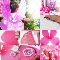 DIY Beautiful Nylon Butterfly Fairy Wings