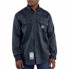 Men's Carhartt� Flame-Resistant Lightweight Twill Shirt