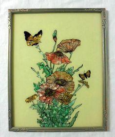 Reverse Painted Foil Art Butterfly Print