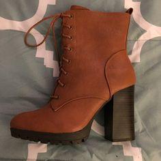 ed9f5cb3c3b4 Brand New❗️Chunky Heel Combat Boots Never Worn❗️Almond toe
