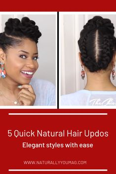 Natural Hair Styles Archives - Naturally You! Medium Length Natural Hairstyles, Protective Hairstyles For Natural Hair, Natural Hair Styles, Easy Black Girl Hairstyles, Coily Hair, Flat Twist, Twist Outs, Twists, Updos