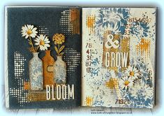 Hi all and welcome to another week on the Simon Says Stamp Monday Challenge Thank you for joining us for the … Leaf Stencil, Stencils, Design Tape, Simon Says Stamp Blog, Distressed Texture, Glue Book, Alphabet Stamps, Art Journal Pages, Art Journals