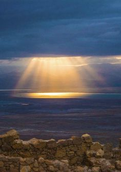 """Spring Playlist Song #14 :: """"Sunrise"""" by Yeasayer :: Photo of sunrise over the Dead Sea by Scott Sanders"""