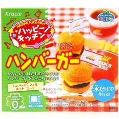 This is weird, but I freakin LOVE how japan candies look like, for example: Hamburger Popin' Cookin' kit DIY candy.  Like, WTH?!