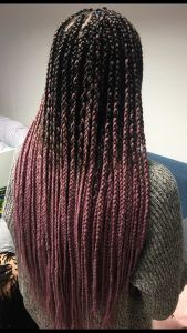 Box braids are beautiful, timeless, and practical. Take a look at 40 styles featuring small box braids (braids the size of a pencil or smaller). Pink Box Braids, Ombre Box Braids, Colored Box Braids, Blonde Box Braids, Braids For Black Hair, Small Box Braids Hairstyles, Short Box Braids, Long Braids, Braided Hairstyles