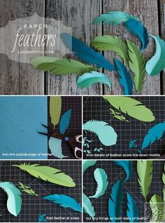 20. #Paper Feathers - 20 #Fabulous Gift Wrapping #Tutorials for the Holidays ... → DIY #Tissue