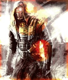 Darth Revan by craig-6420.deviantart.com on @deviantART - Love the mix of mono color with flares of color